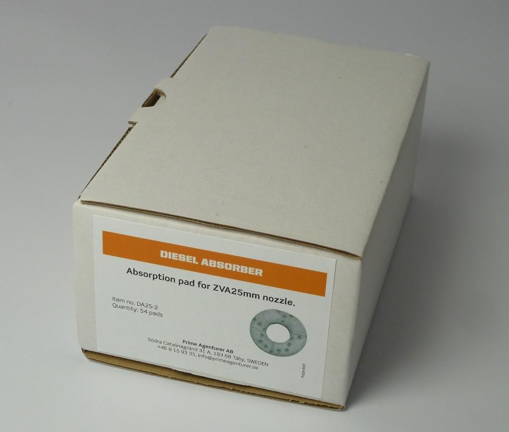 Verpackungseinheit mit 54 Stck. Absorptionsfilter für sowohl DA-25 als auch DA-40